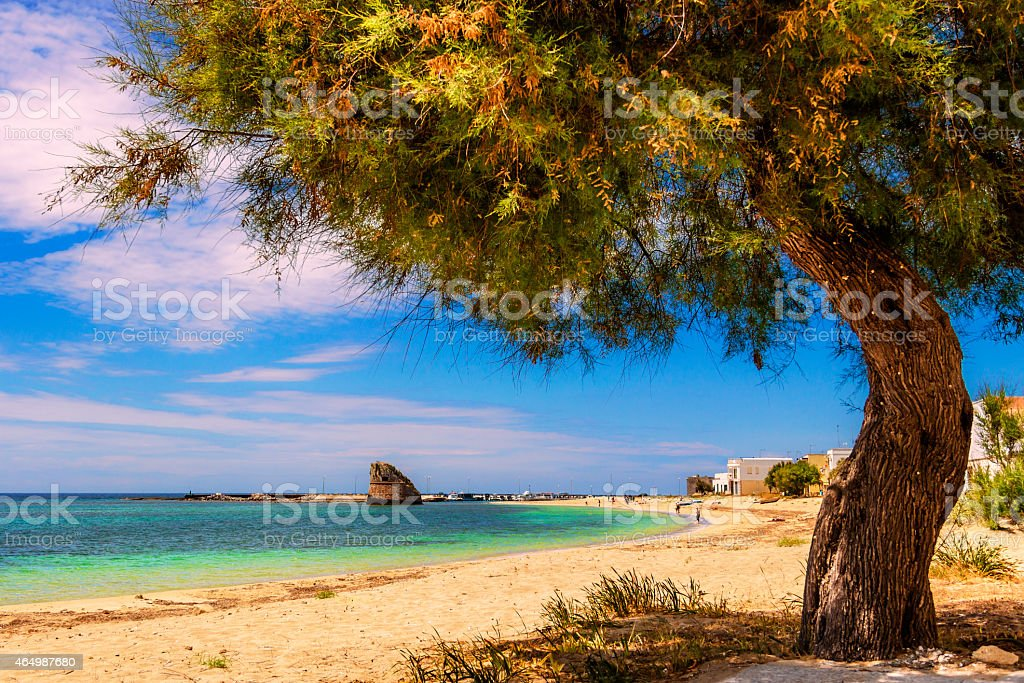 SUMMER SEASCAPE.Salento coast:Torre Pali beach (Lecce). ITALY (Apulia) stock photo
