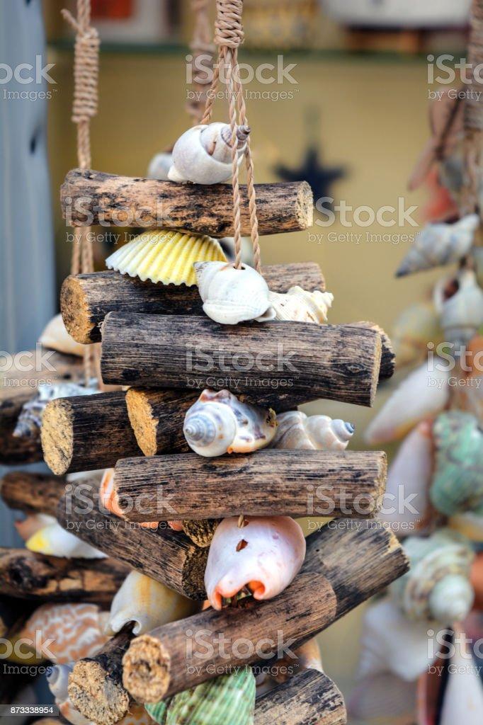 Seashell decoration stock photo