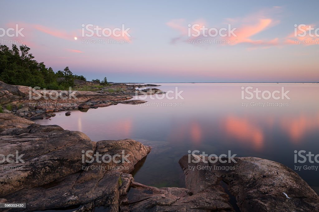 Seashore at dusk royalty-free stock photo