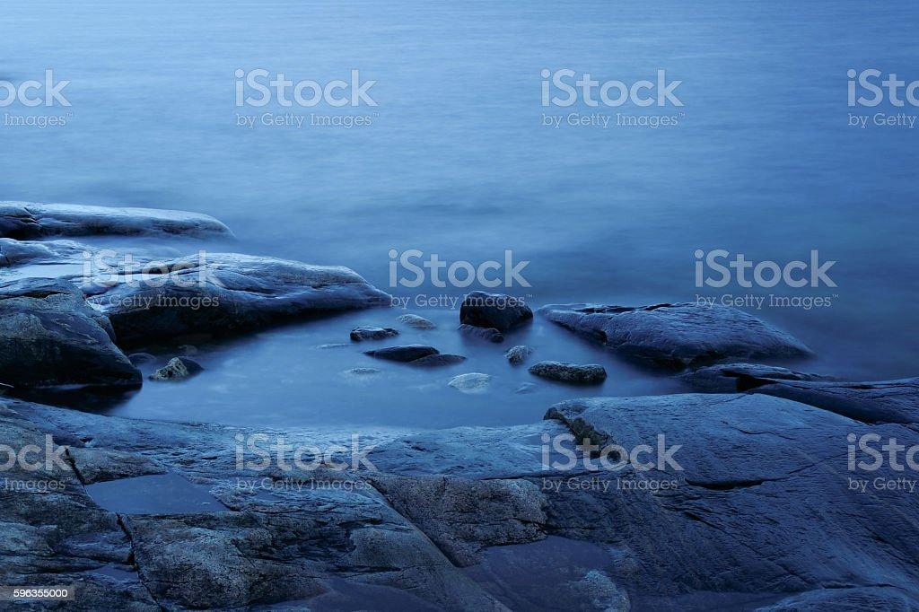 Seashore at dusk royalty-free stock photo