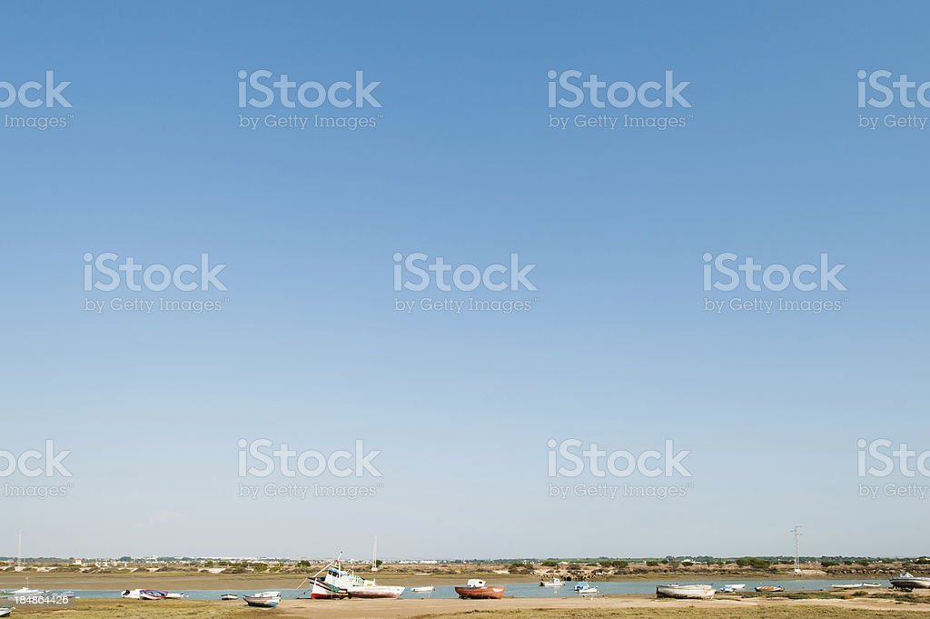 Seashore during low tide royalty-free stock photo