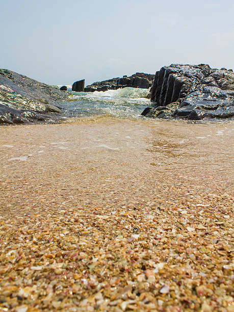 Seashore from Low Angle stock photo