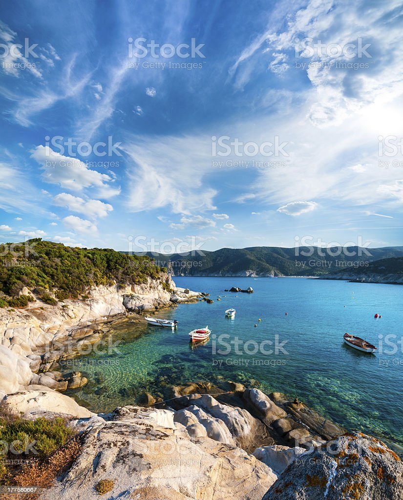 Seashore in Sithonia, Northern Greece stock photo