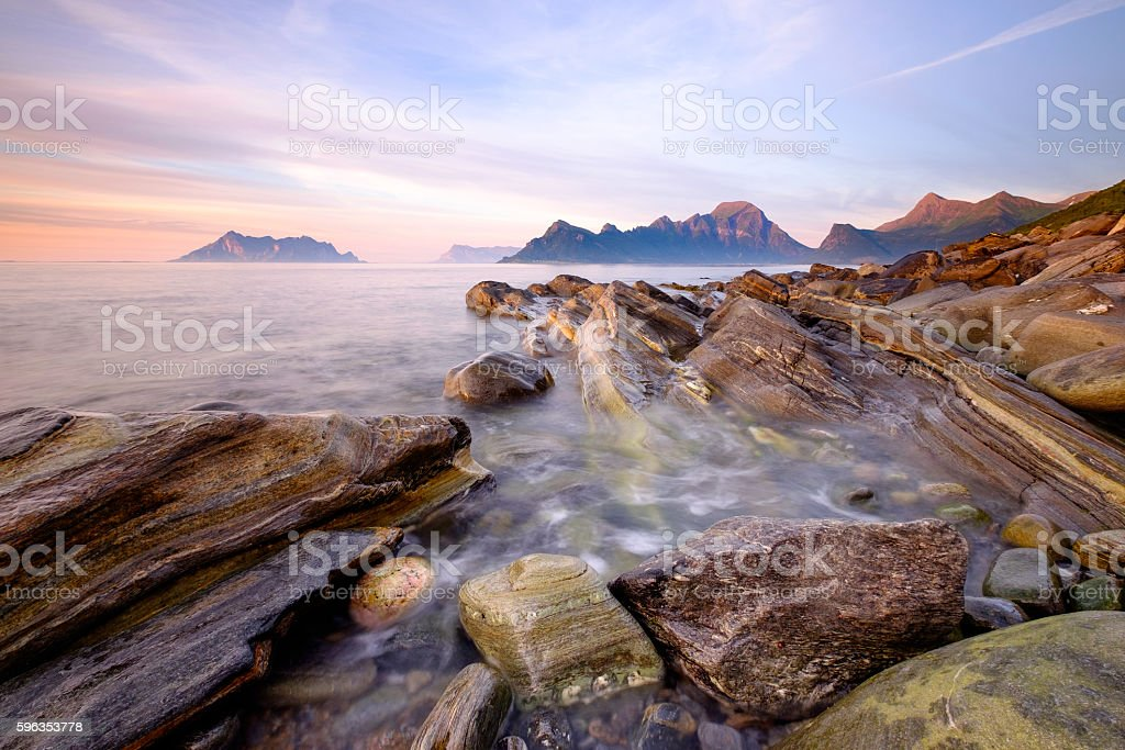 Seashore Lofoten Norway royalty-free stock photo