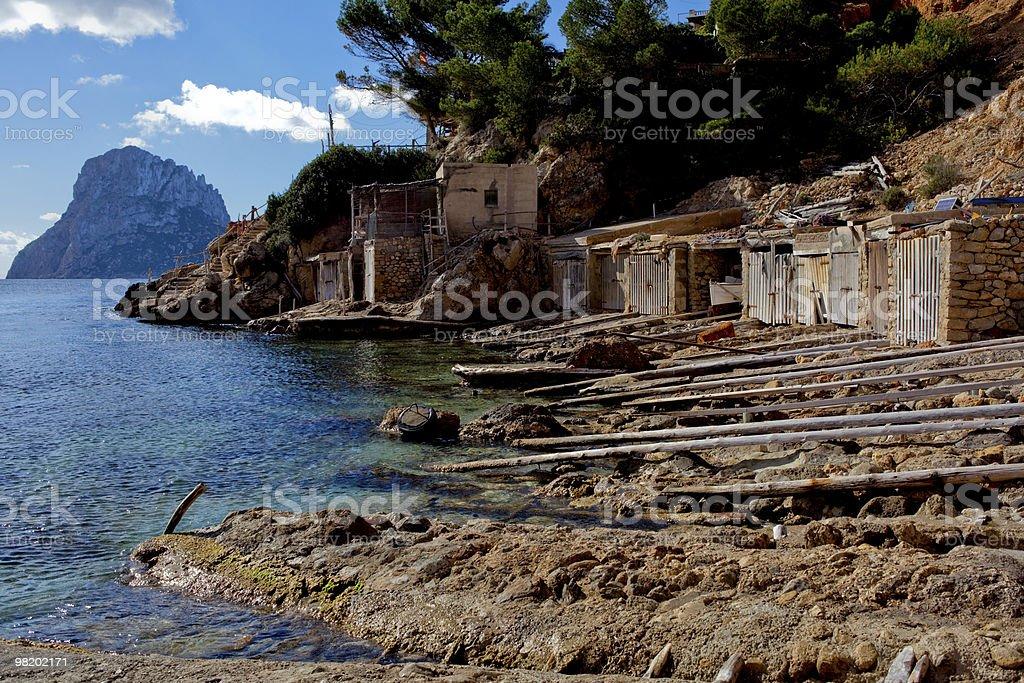 Seashore on island royalty-free stock photo