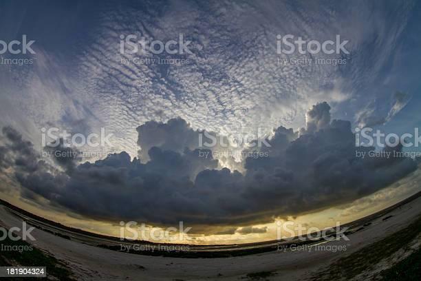 Photo of Seashore scenery in fish-eye lens