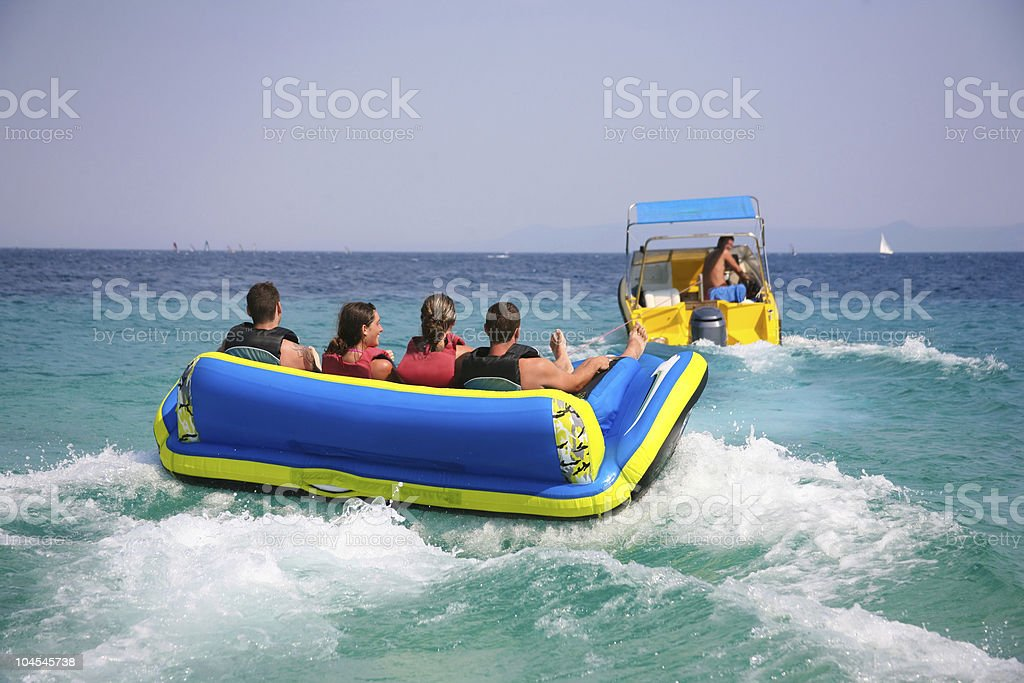 Seaside amusement stock photo