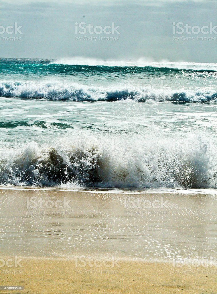 Seaside and the waves in the water royalty-free stock photo