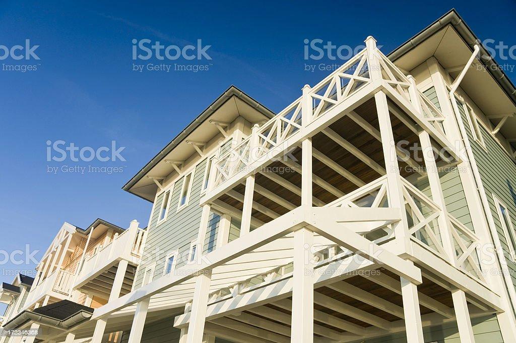 Seaside Apartments royalty-free stock photo