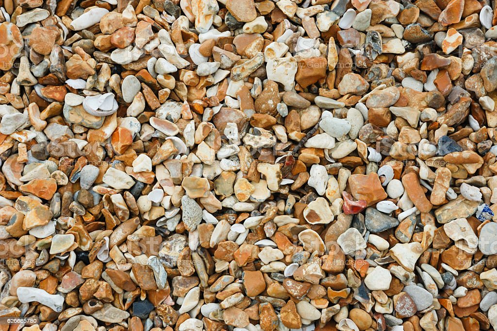 Seaside Background - Pebbles on a Beach stock photo