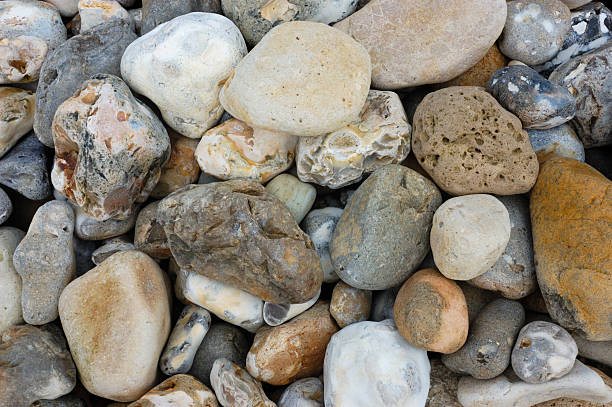 Seaside Background - Stones on a Beach stock photo