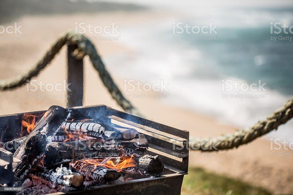 Seaside Barbecue stock photo