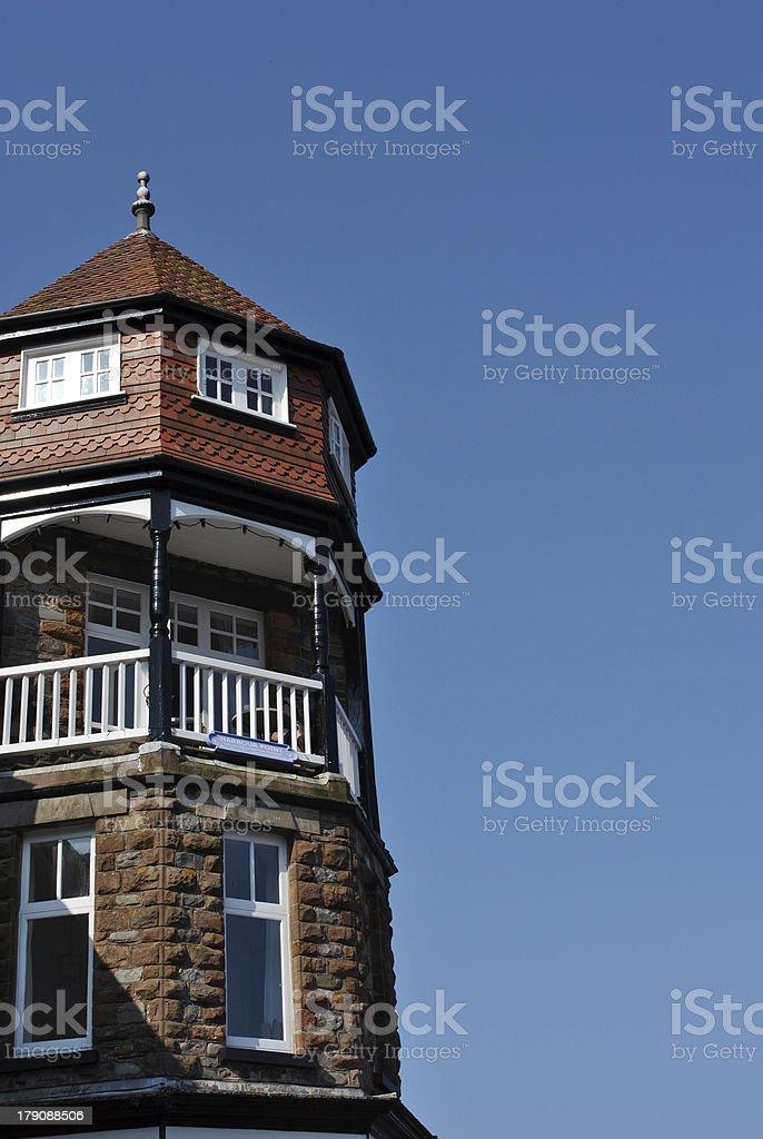 Seaside building against blue skies royalty-free stock photo