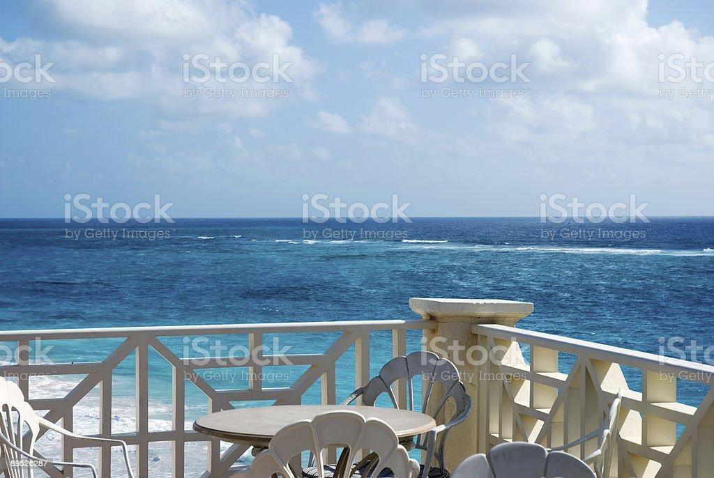 seaside cafe royalty-free stock photo