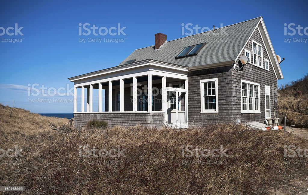 Seaside Cottage stock photo