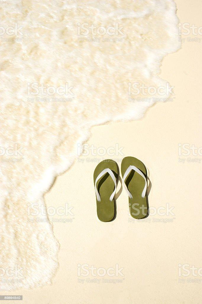 Seaside Flip Flops royalty-free stock photo