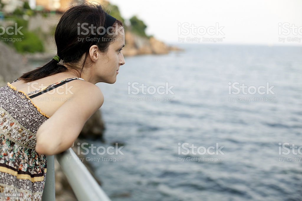 Seaside girl stock photo