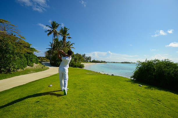 Seaside Golf stock photo