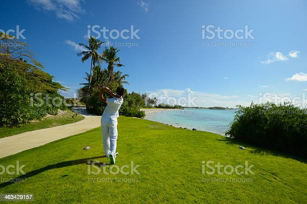 Seaside Golf Stock Photo - Download Image Now