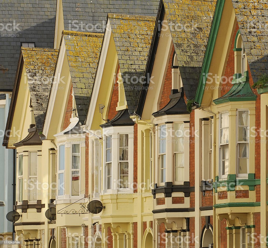 Seaside Houses, Teignmouth royalty-free stock photo