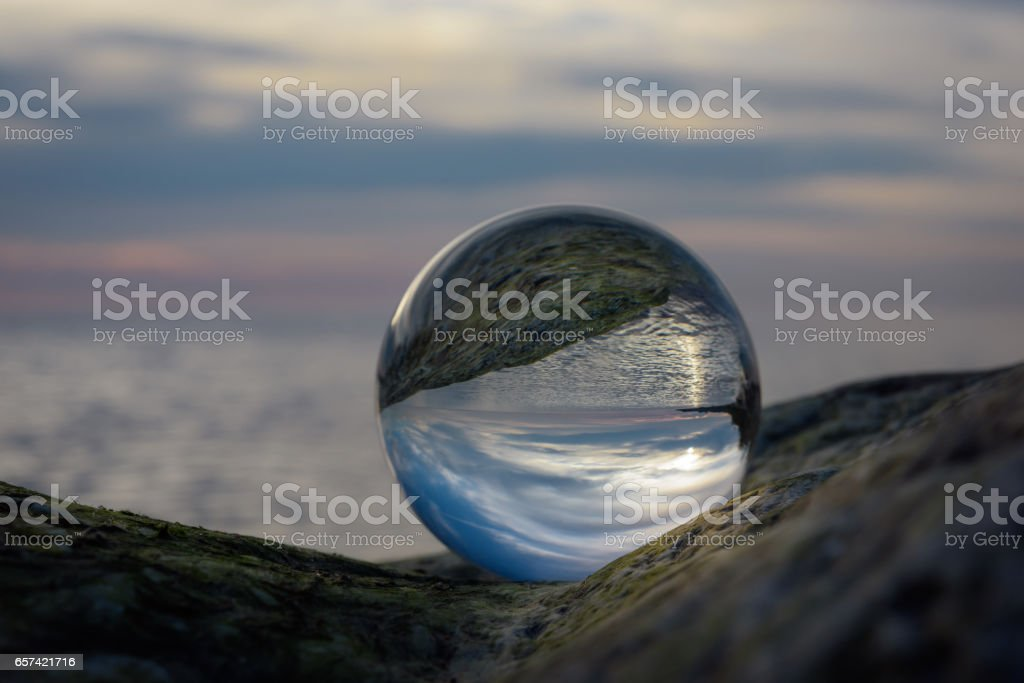 Seaside in crystal ball – Foto