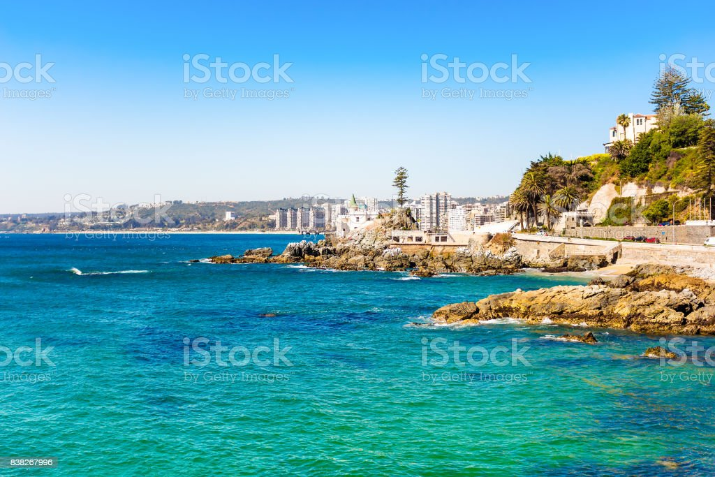 Seaside in Vina del Mar, Chile stock photo