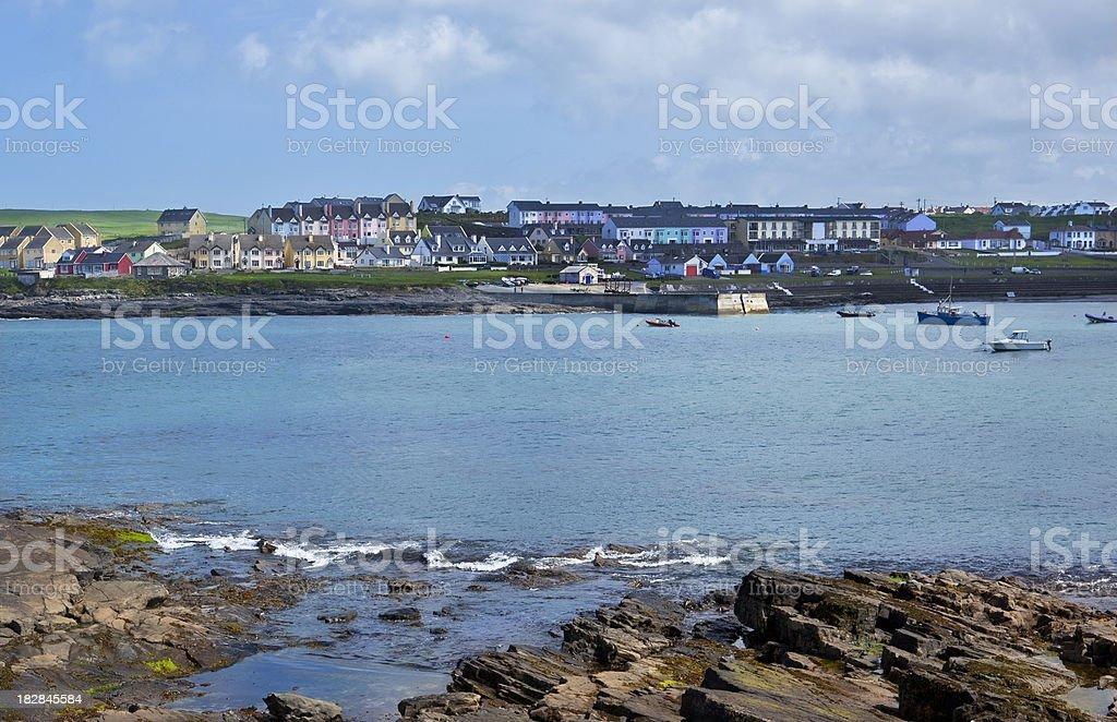 Seaside Irish Town royalty-free stock photo