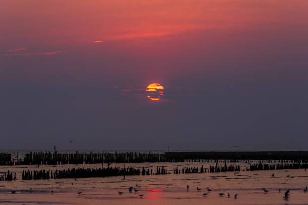 Seaside Landscape at SunriseSeaside Landscape at Sunrise stock photo