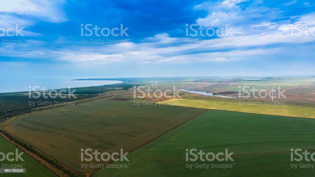 Seaside landscape in Crimea. royalty-free stock photo