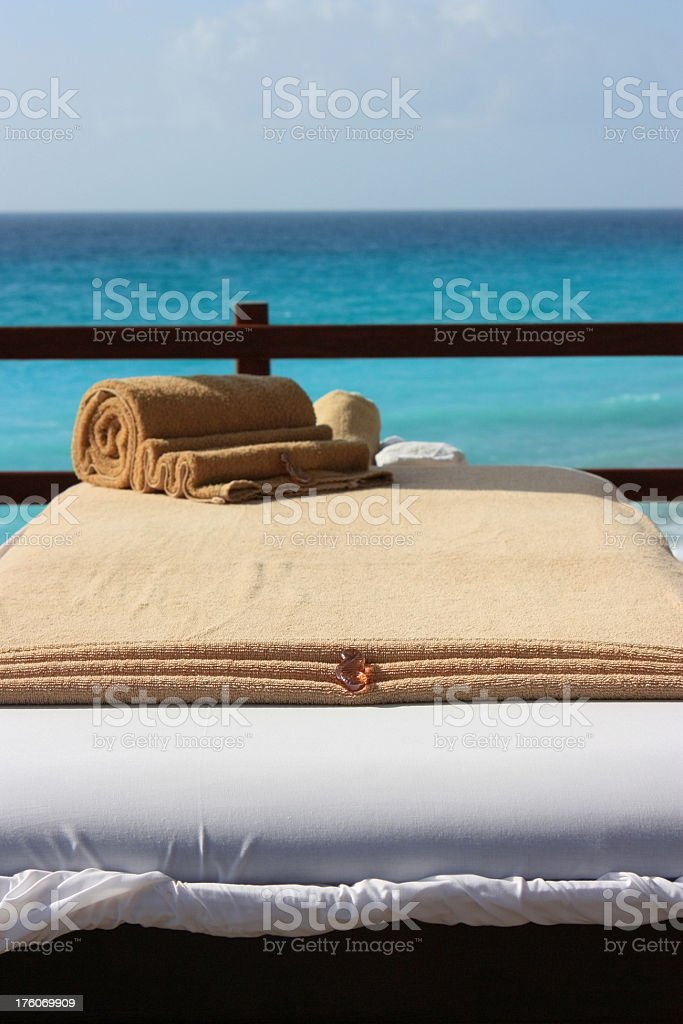 Seaside Massage stock photo