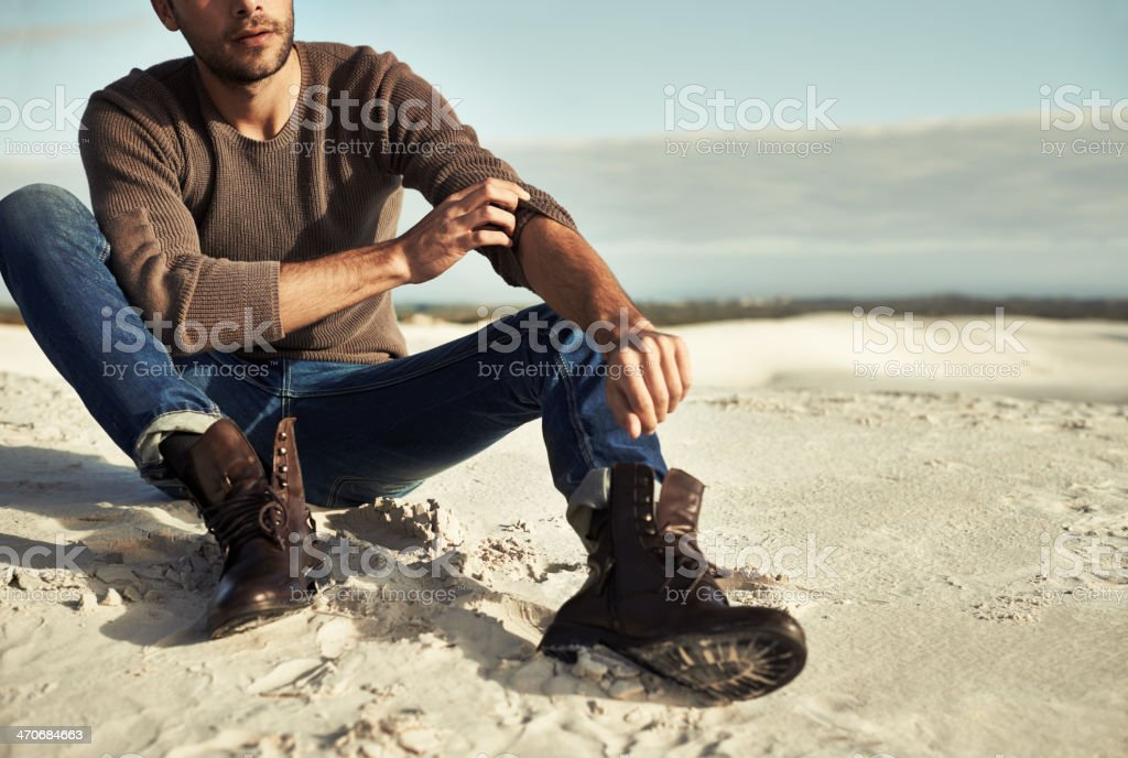 Seaside moments stock photo