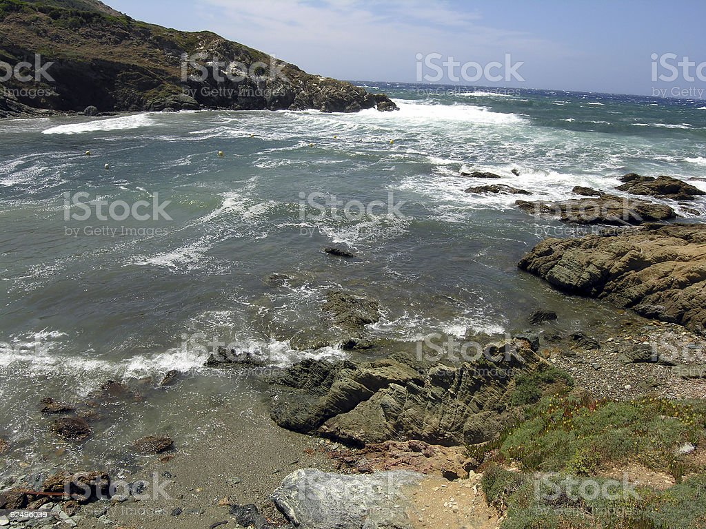 Seaside Paradise for Storm Lovers royalty-free stock photo