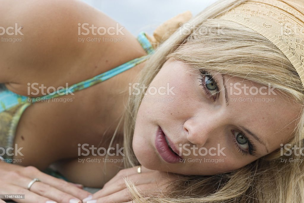 Seaside Portraits - Close Up royalty-free stock photo