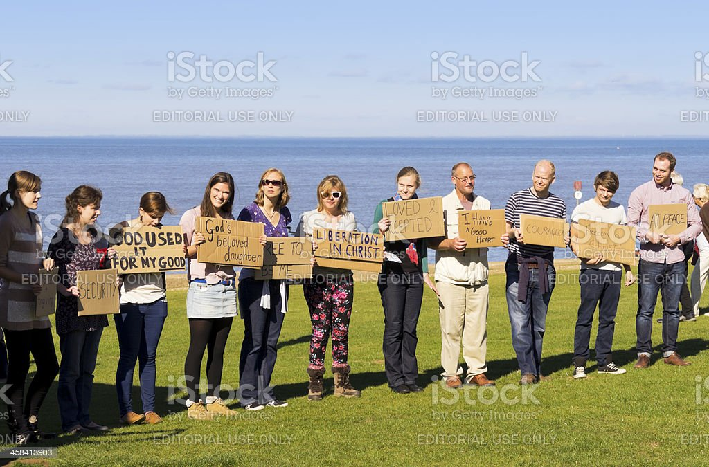 Seaside prayer meeting royalty-free stock photo