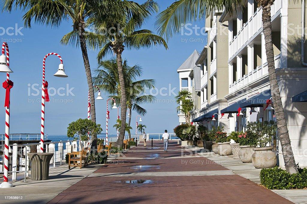 Seaside promenade in Key West, Florida stock photo