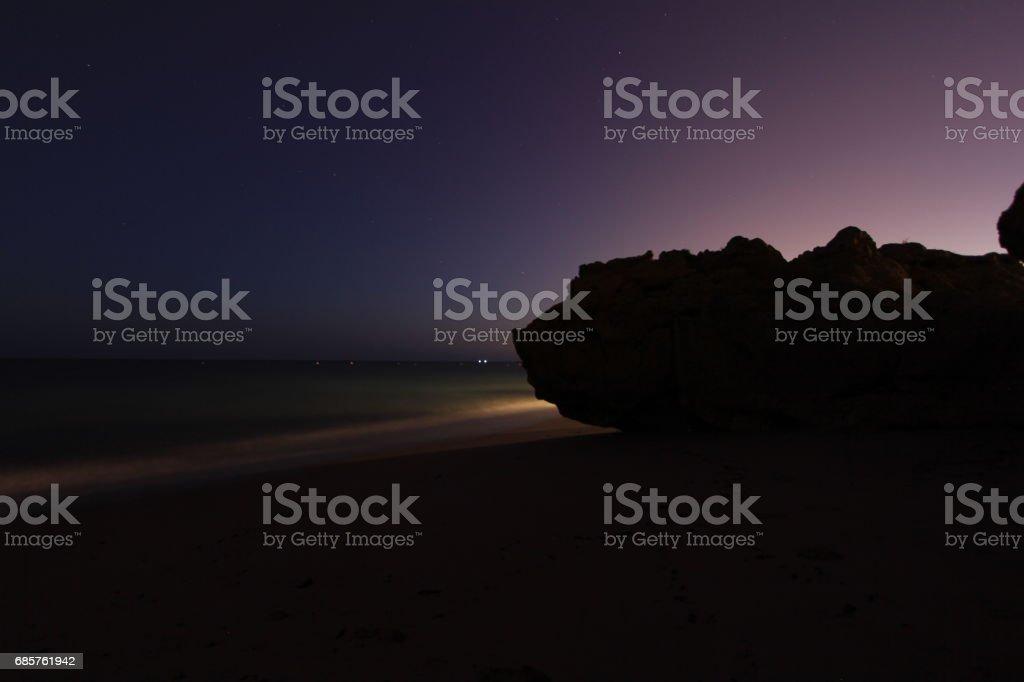 Seaside rock royaltyfri bildbanksbilder