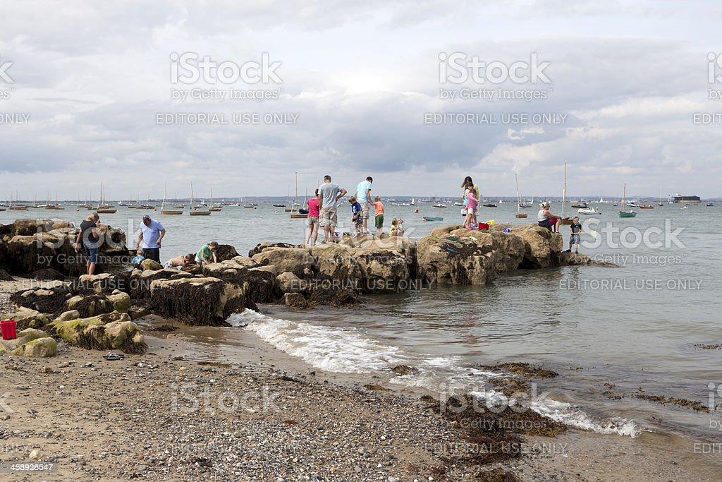 Seaside scene at Seaview, Isle of White (XXXL) stock photo