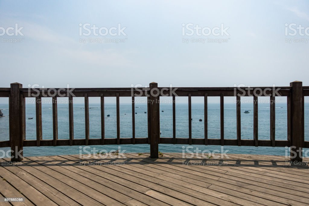 Seaside sightseeing stand stock photo