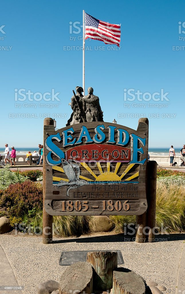 Seaside Sign royalty-free stock photo