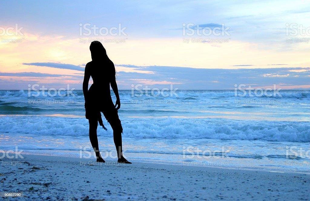 Seaside Silhouette royalty-free stock photo