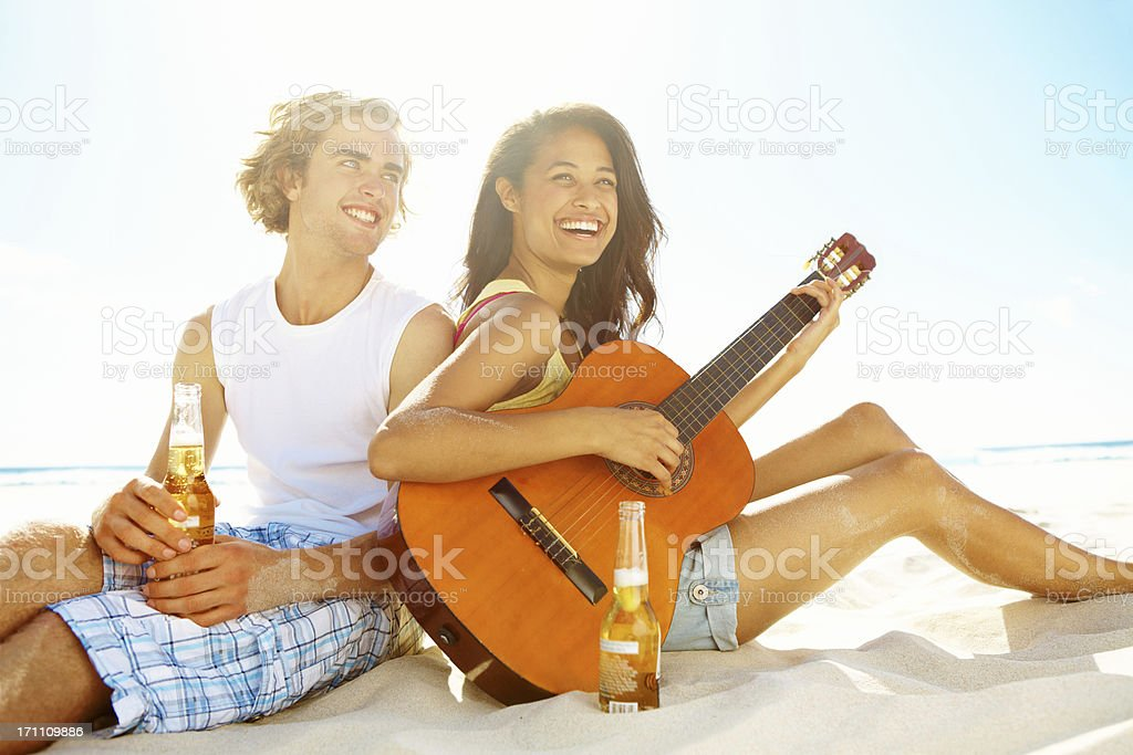 Seaside songstress royalty-free stock photo