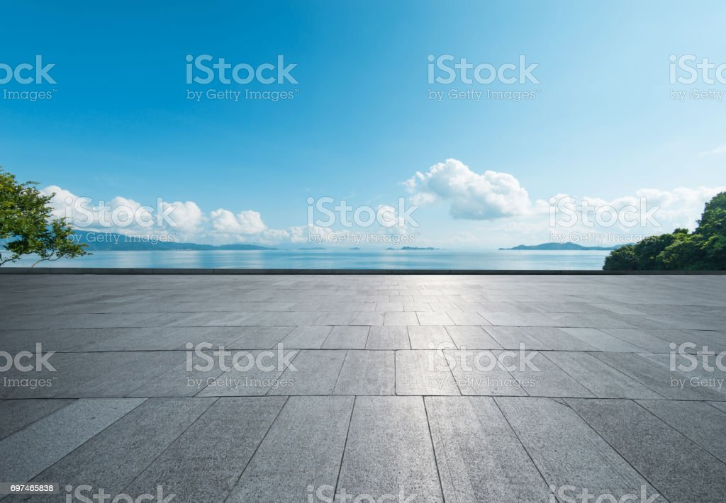 seaside square stock photo