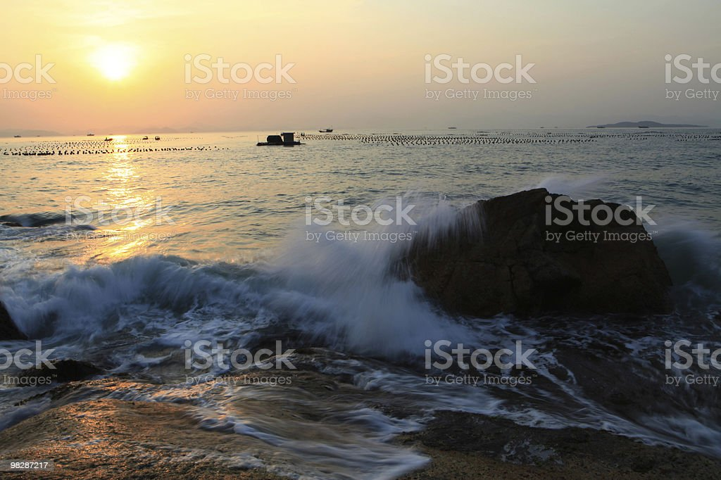 Seaside Sunset royalty-free stock photo