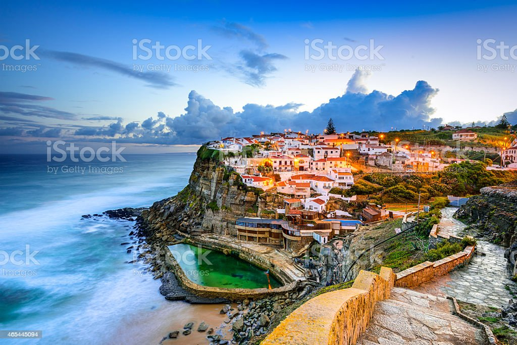 Azenhas do Mar Seaside Town stock photo