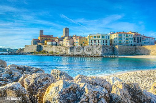 Seaside view of Antibes, France