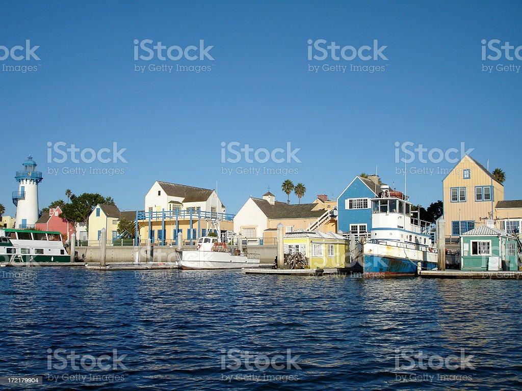 Seaside Village royalty-free stock photo