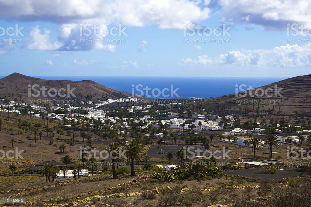 Seaside village stock photo