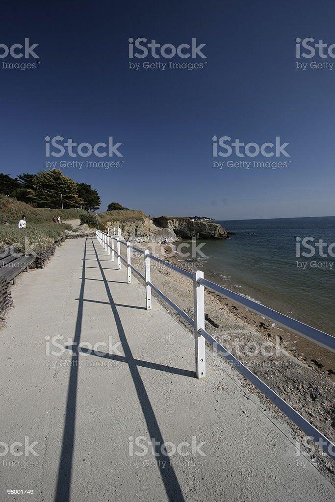 Seaside walking royalty-free stock photo