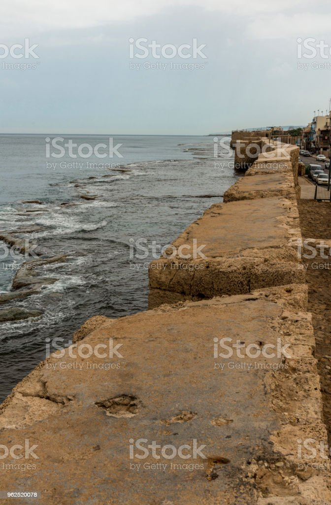 Seaside walls surrounding Acre on the western side - Royalty-free Acco Stock Photo