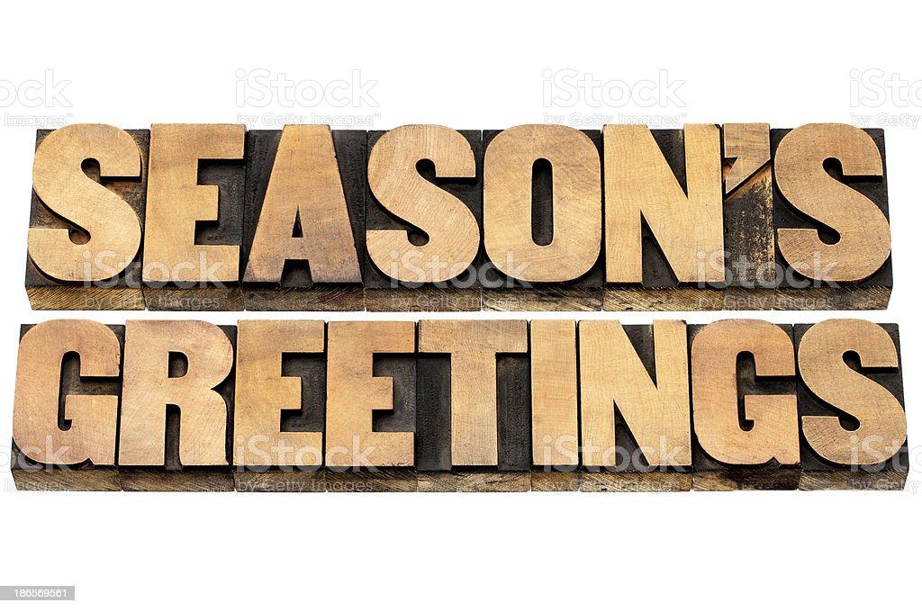 season greetings royalty-free stock photo